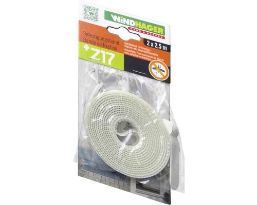 Bande de fixation pour tissu en alu/fibre de verre 2.5m transparent