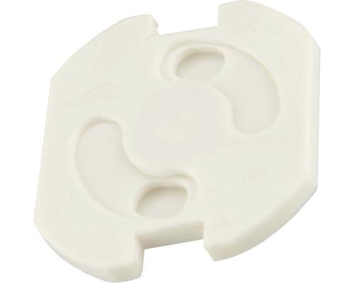 Cache-prises blancs 10 pièces à coller
