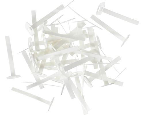 Languettes de traction Hufa blanches, pack de 100