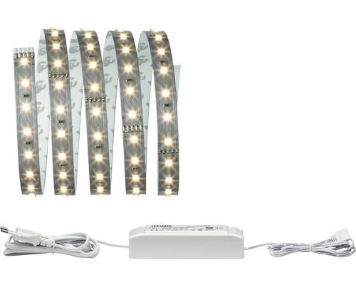 Kit de base Strip MaxLED 500 prêt à l''emploi 1,5 m gris argenté 825 lm 2700 K blanc chaud 106 LED non-revêtu 24V convient au Smart Home après extension