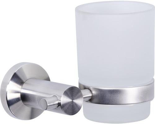 Gobelet pour brosse à dents Basano Ravenna acier inoxydable mat