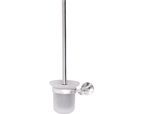Pot à balai pour brosse à WC Basano Ravenna acier inoxydable mat
