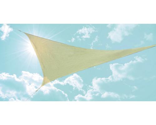 Voile d''ombrage triangulaire beige 360x360x360 cm