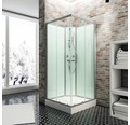 Cabine de douche montée Korfu 89x89 cm vert