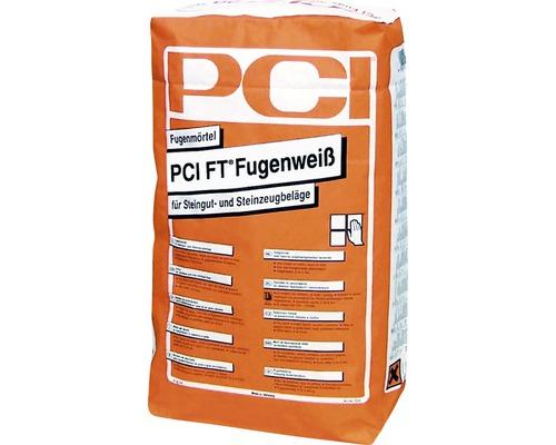 Mortier de jointoiement PCI FT joint blanc pour sols en grès et grès cérame blanc 5 kg