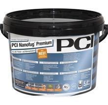 Mortier Flex de jointoiement variable PCI Nanofug Premium pour tous les carrelages et pierres naturelles marron foncé 5 kg-thumb-2