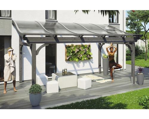 Charmant Toiture Pour Terrasses Skanholz Florenz 541 X 239 Cm, Gris Ardoise