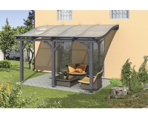 Toiture pour terrasses Skanholz Venezia 434 x 239 cm, gris ardoise