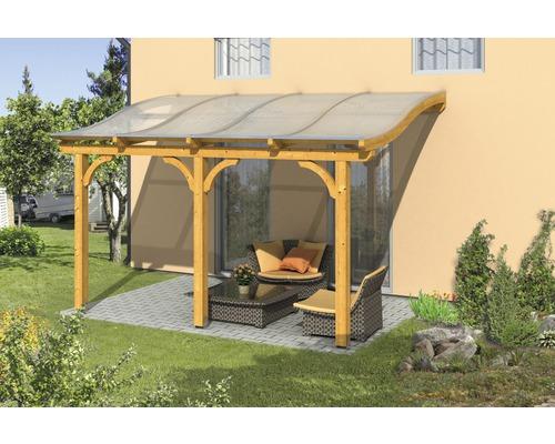 Toiture pour terrasses Skanholz Venezia 434 x 239 cm, chêne clair
