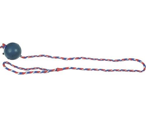Jouet pour chiens Karlie balle en caoutchouc 6,3 cm avec corde