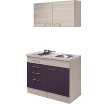 Mini-cuisine Focus 100 cm décor acacia avec appareils encastrés-thumb-1