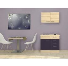 Mini-cuisine Focus 100 cm décor acacia avec appareils encastrés-thumb-0