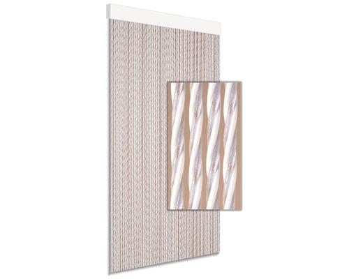 Rideau de porte Dara blanc 90x210 cm