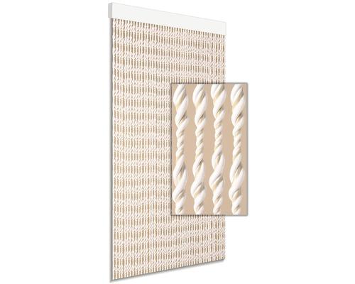 Rideau de porte DEGOR Ember beige blanc 90x210cm