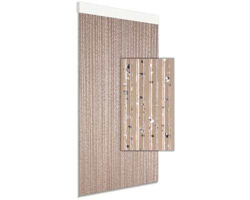 Rideau de porte DEGOR Calisto argent 90x210cm
