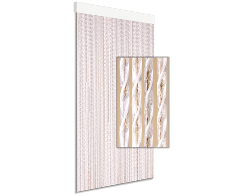 Rideau de porte DEGOR Tinca marron 90x210cm