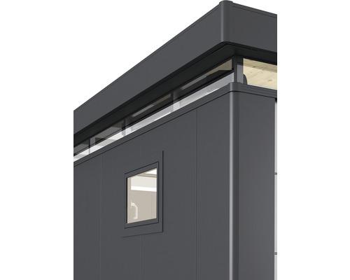 Fenêtre oscillo-battante CasaNova droite, 83 x 65 cm, gris foncé métallique