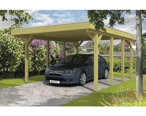 Carport pour un véhicule Skanholz Friesland 397 x 555 cm, toit en aluminium, imprégné par immersion