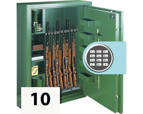 Waffenschrank Rottner Sport N10 Premium mit Elektronikschloss grün