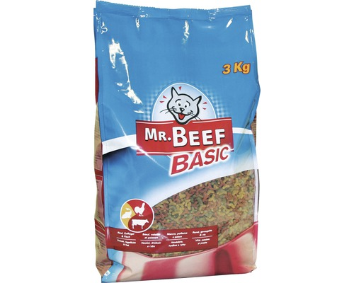 Mr. Beef nourriture sèche pour chats Mix Basic 3 kg