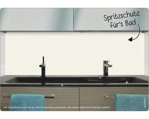 Panneau mural salle de bains mySPOTTI aqua UNI blanc 90x45 cm