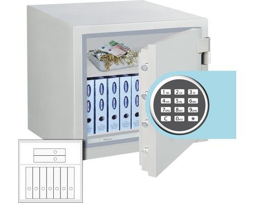 Feuerschutztresor Rottner Opal Fire OPD-65 IT Premium mit Elektronikschloss lichtgrau