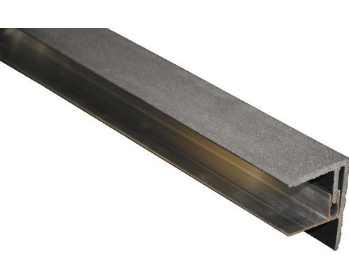 Finition latérale gris-brun 2500x64x48 mm