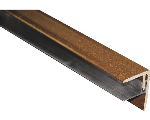 Finition latérale, couleur brune 2500x64x48 mm