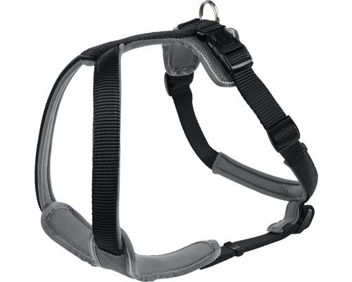 Harnais pour chien Hunter néoprène taille S, noir-gris