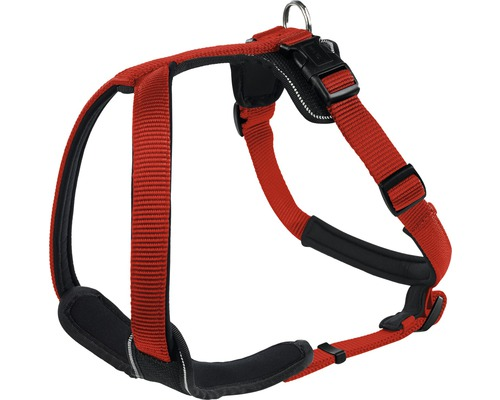 Harnais pour chien Hunter néoprène taille S, rouge-noir