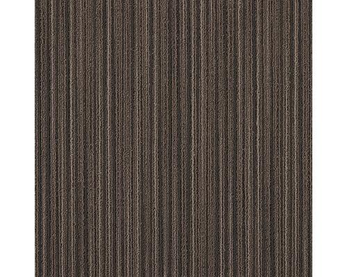 Dalle de moquette Lineations brun 50x50 cm
