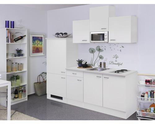 Cuisine complète Wito 210 cm avec électroménager encastré blanc 00007995