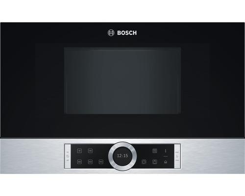 Micro-ondes encastré Bosch en acier inox BFL634GS1