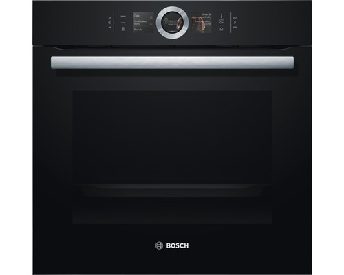 Four à vapeur encastrable Bosch Serie 8 60 cm HSG636BB1 noir