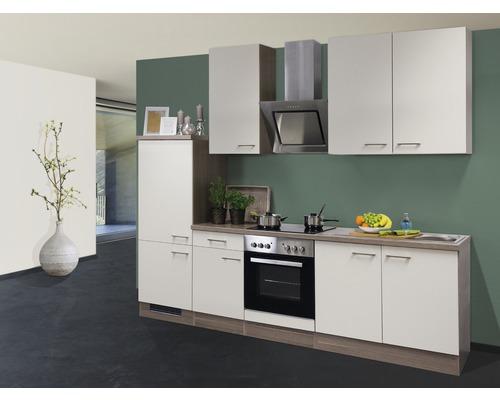 Cuisine complète Eico 270 cm avec électroménager encastré blanc magnolia 00008602-0
