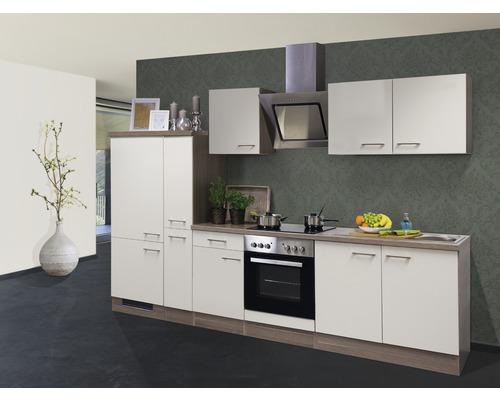 Cuisine complète Eico 300 cm avec électroménager encastré blanc magnolia 00010050-0