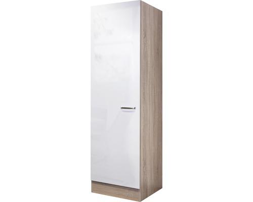 Armoire haute Valero blanc brillant (hxlxp) 50x200x57 cm