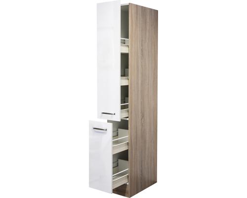 Armoire haute Valero blanc hautement brillant (lxhxp) 30x200x57 cm