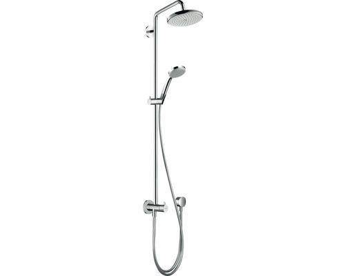 Colonne de douche avec inverseur hansgrohe Croma Showerpipe 220 1jet Reno chrome 27224000