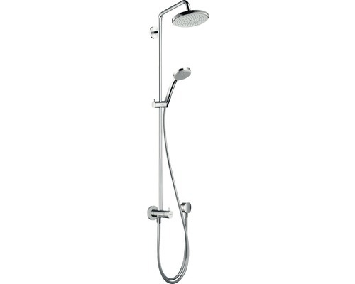 Duschsystem hansgrohe Croma Showerpipe 220 1jet Reno 27224000 chrom mit Umsteller