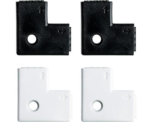 Connecteur d''angle YourLED 90° noir/blanc 4 pièces 12V