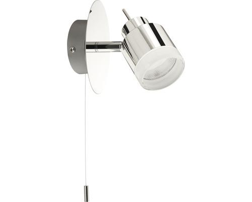 Spot pour salle de bain à LED EEK A+ Splash 1x4 W chrome avec interrupteur