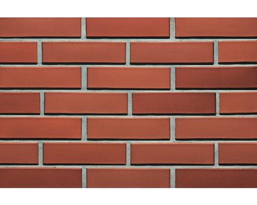 Briques Klinker pour façades rouge naturel massive 7 encoches 240 x 115 x71 mm