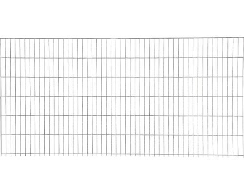Clôture à grillage double 251x83 cm, galvanisée à chaud