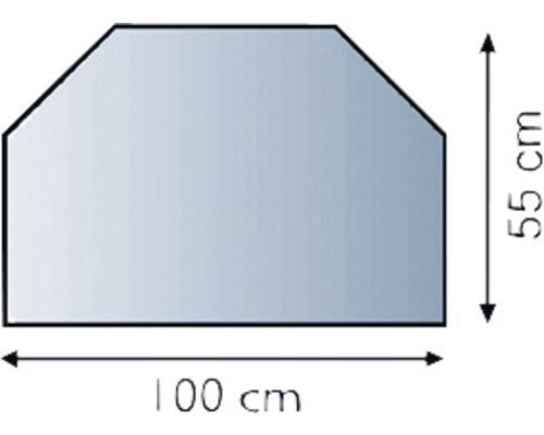 Dalle de sol verre hexagonale 100x55 cm