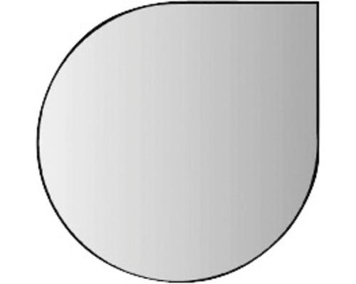 Plaque de protection en verre contre les étincelles ronde 125x125 cm