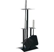 Serviteur de cheminée noir 21.02.441.2 3 parties-thumb-0