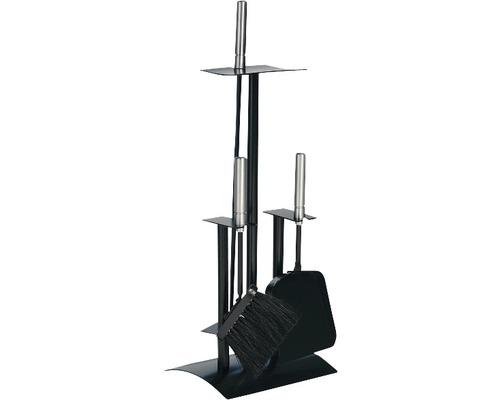 Serviteur de cheminée noir 21.02.441.2 3 parties