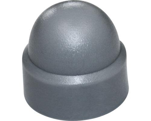 Cache pour vis six pans rond 5 mm gris 50 unités
