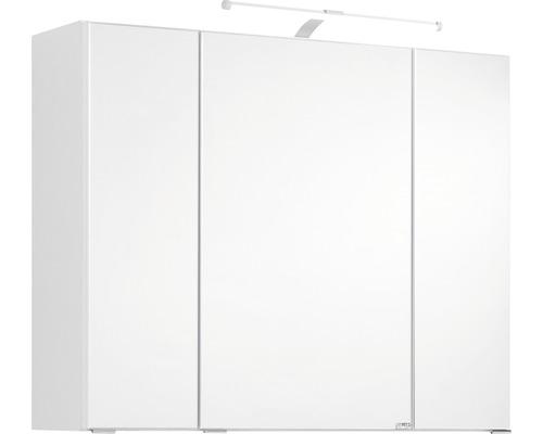 Armoire de toilette à trois portes 80x66 cm blanc-0